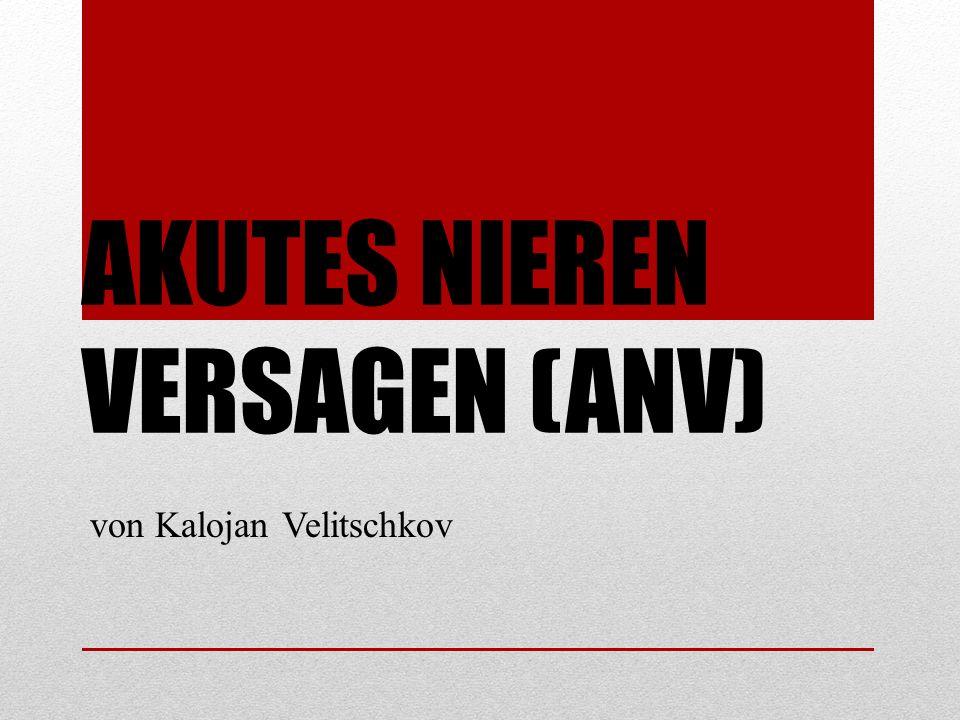 AKUTES NIEREN VERSAGEN (ANV) von Kalojan Velitschkov