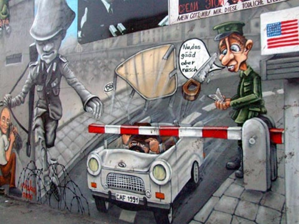 In 1989, die Berliner Mauer fiel ab.