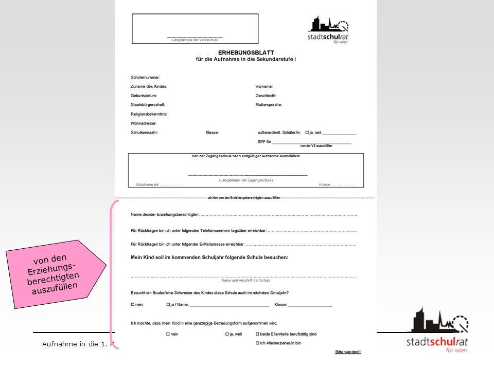 Schuljahr 2009/10 Aufnahme in die 1.Klasse AHS Aufnahmeverfahren 2009/10 Bis spätestens 23.
