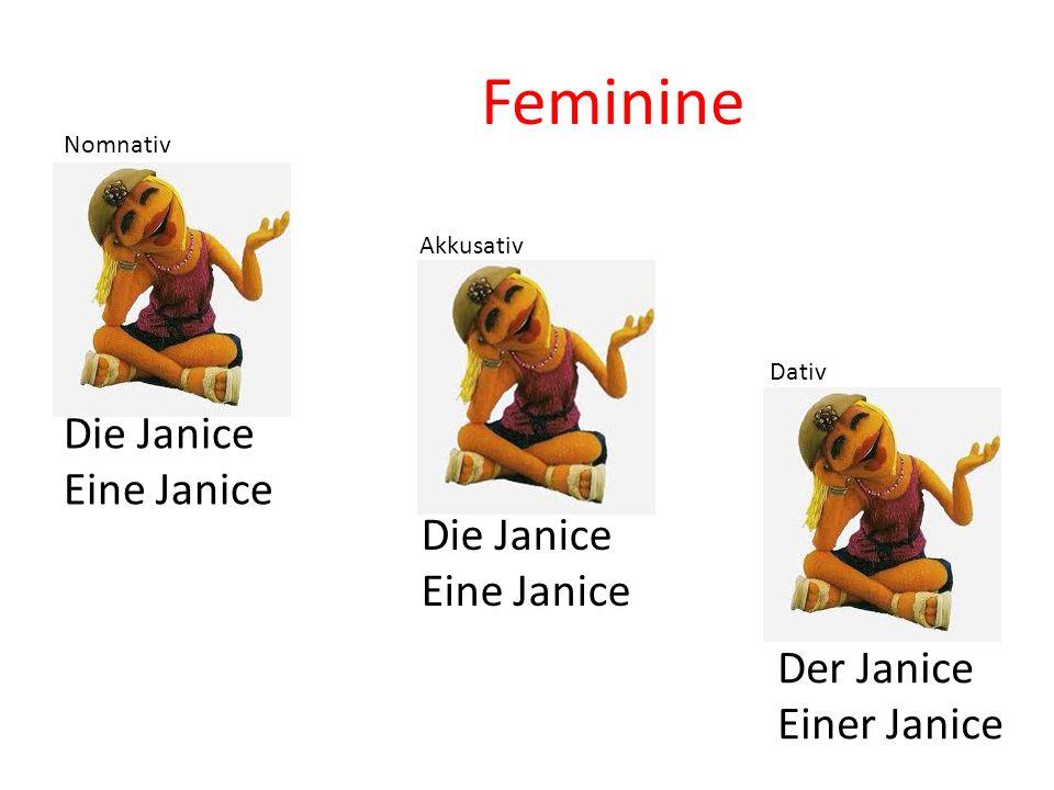 Die Janice Eine Janice Die Janice Eine Janice Der Janice Einer Janice Nomnativ Akkusativ Dativ Feminine