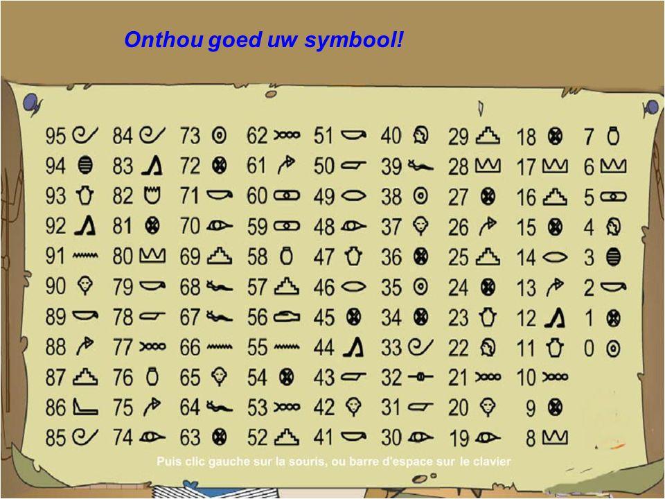 Jetzt schau nach, welches Symbol zu deiner Zahl gehört... ?