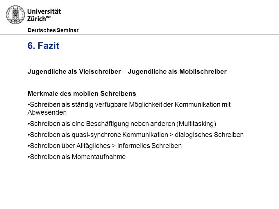 Deutsches Seminar 6.