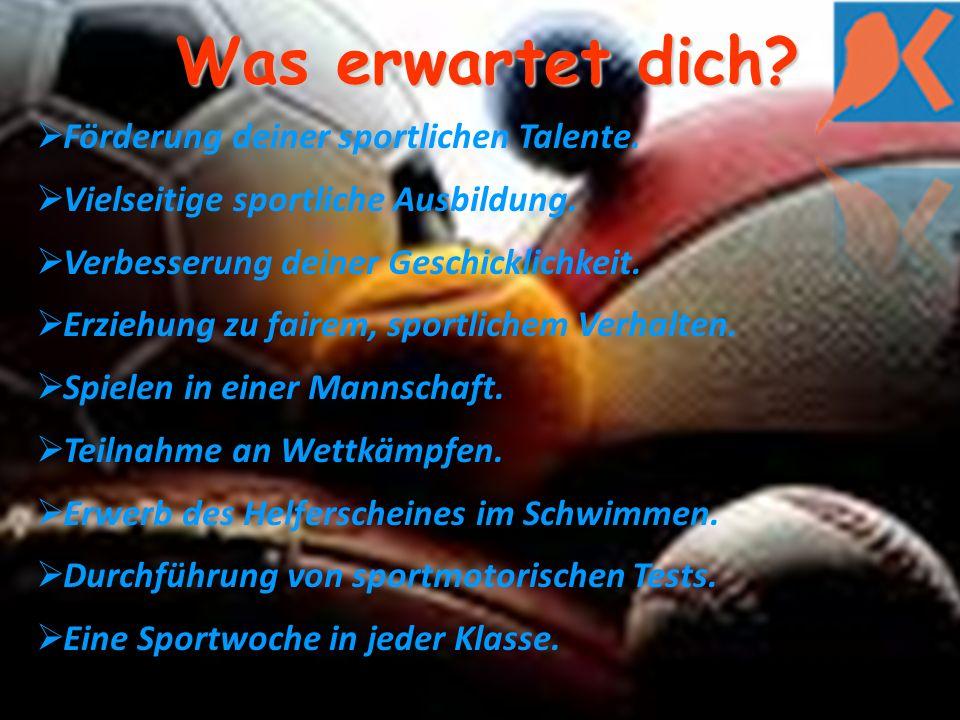 Was erwartet dich. Förderung deiner sportlichen Talente.