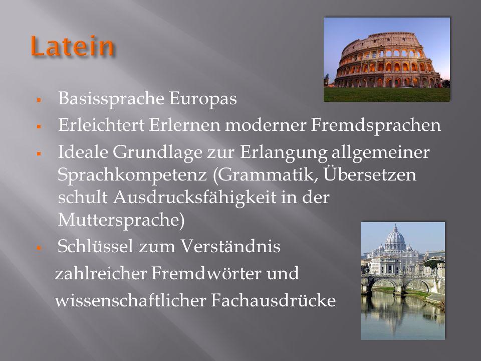 Basissprache Europas Erleichtert Erlernen moderner Fremdsprachen Ideale Grundlage zur Erlangung allgemeiner Sprachkompetenz (Grammatik, Übersetzen sch