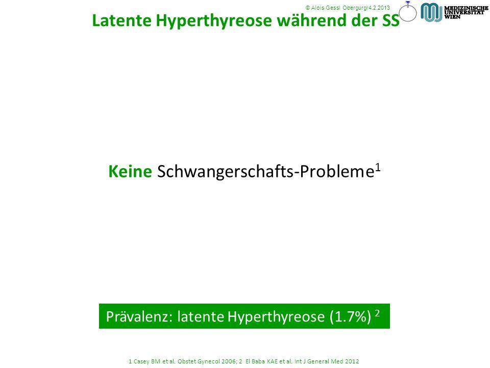 Keine Schwangerschafts-Probleme 1 1 Casey BM et al. Obstet Gynecol 2006; 2 El Baba KAE et al. Int J General Med 2012 © Alois Gessl Obergurgl 4.2.2013