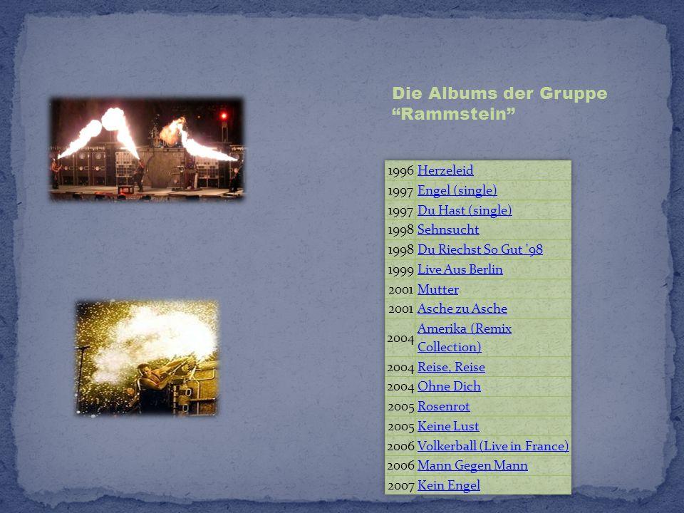 Die Albums der Gruppe Rammstein