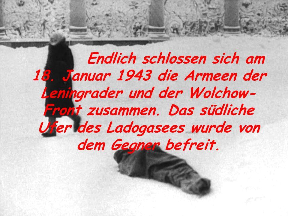 Operation wurde der Heeresgruppe Nord eine schwere Niederlage beigebracht, die Nazis wurden um 220-280 km von Leningrad zurückgeworfen.