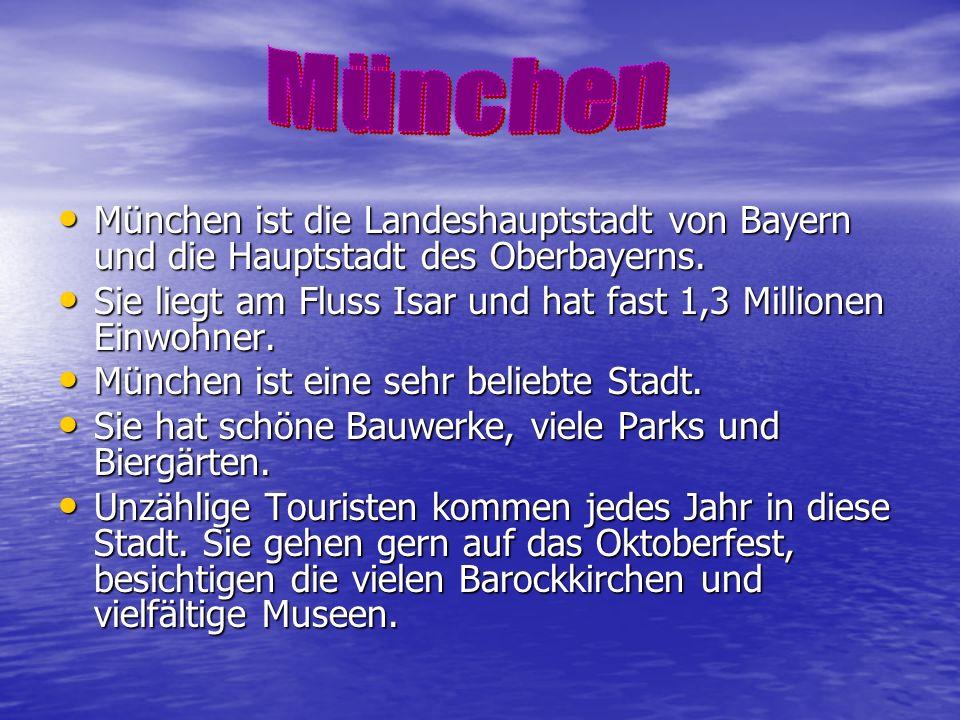 München ist die Landeshauptstadt von Bayern und die Hauptstadt des Oberbayerns. München ist die Landeshauptstadt von Bayern und die Hauptstadt des Obe