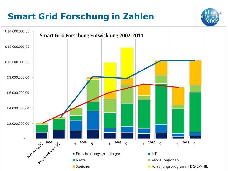 Smart Grid Forschung in Zahlen