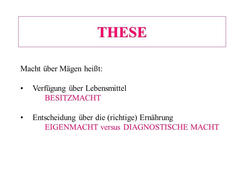 DIAGNOSTISCHE MACHT = DIAGNOSE + BESEITIGUNGSIMPERATIV z.B.