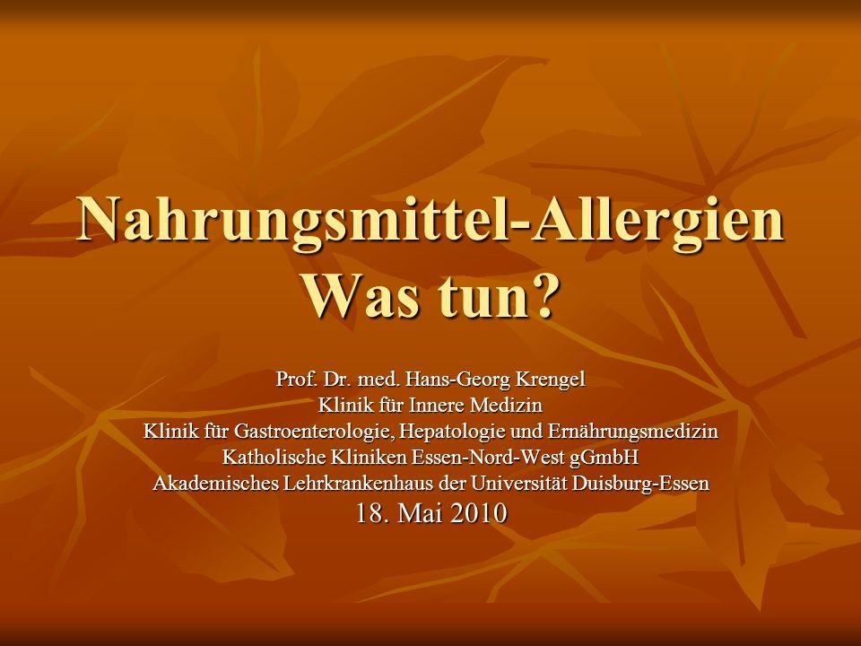 Nahrungsmittel-Allergien Was tun.Prof. Dr. med.