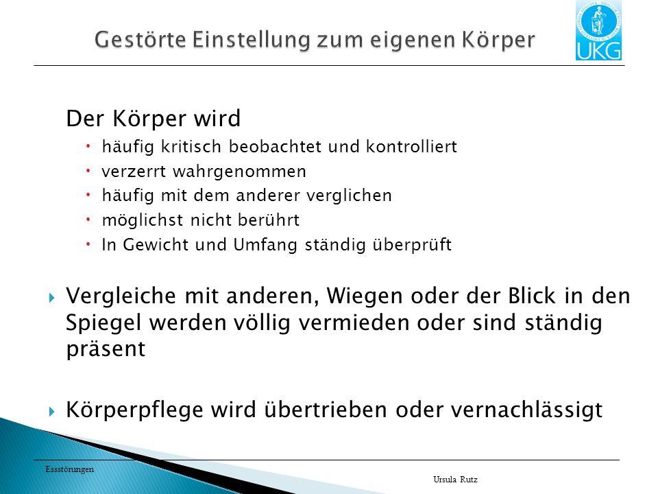 Essstörungen Ursula Rutz Literatur Habermas T (1990) Heißhunger.
