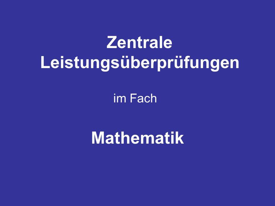Zentrale Leistungsüberprüfungen im Fach Mathematik
