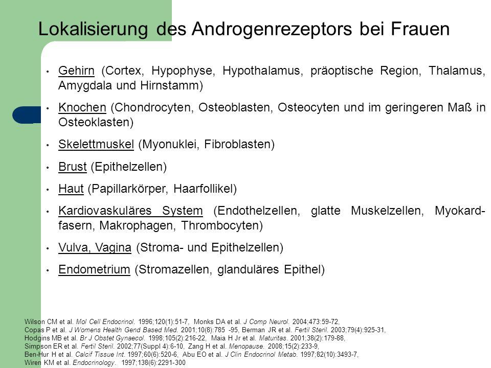 Gehirn (Cortex, Hypophyse, Hypothalamus, präoptische Region, Thalamus, Amygdala und Hirnstamm) Knochen (Chondrocyten, Osteoblasten, Osteocyten und im