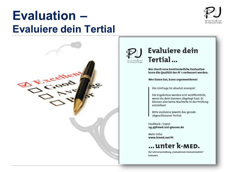 Evaluation – Evaluiere dein Tertial