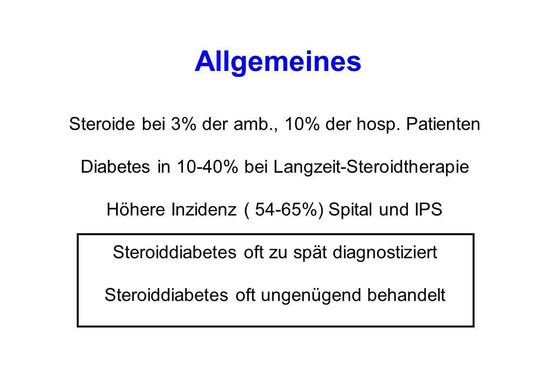 Tagesprofil bei Steroidtherapie Bedtime Insulin?