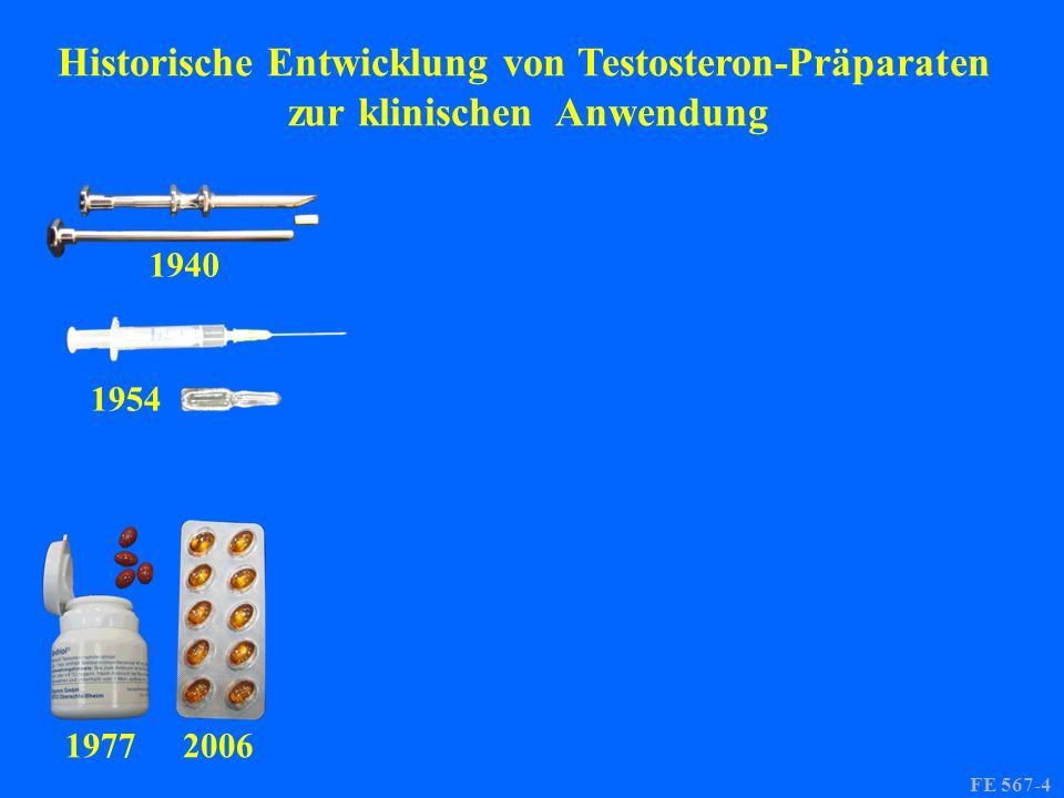 1940 1954 19772006 FE 567-4 Historische Entwicklung von Testosteron-Präparaten zur klinischen Anwendung