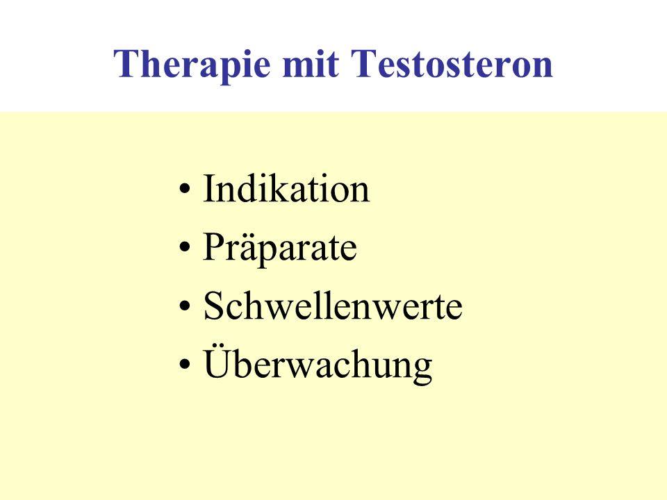 Pharmacokinetics of testosterone enanthate (i.m.) and testosterone undecanoate (p.o.) FE620E Testosteron (nmol/l) 3 Wochen 4 Wochen Wochen 2 Wochen 1 Woche Nieschlag & Behre (eds) Testosterone 3rd ed Cambridge Univ Press 2004