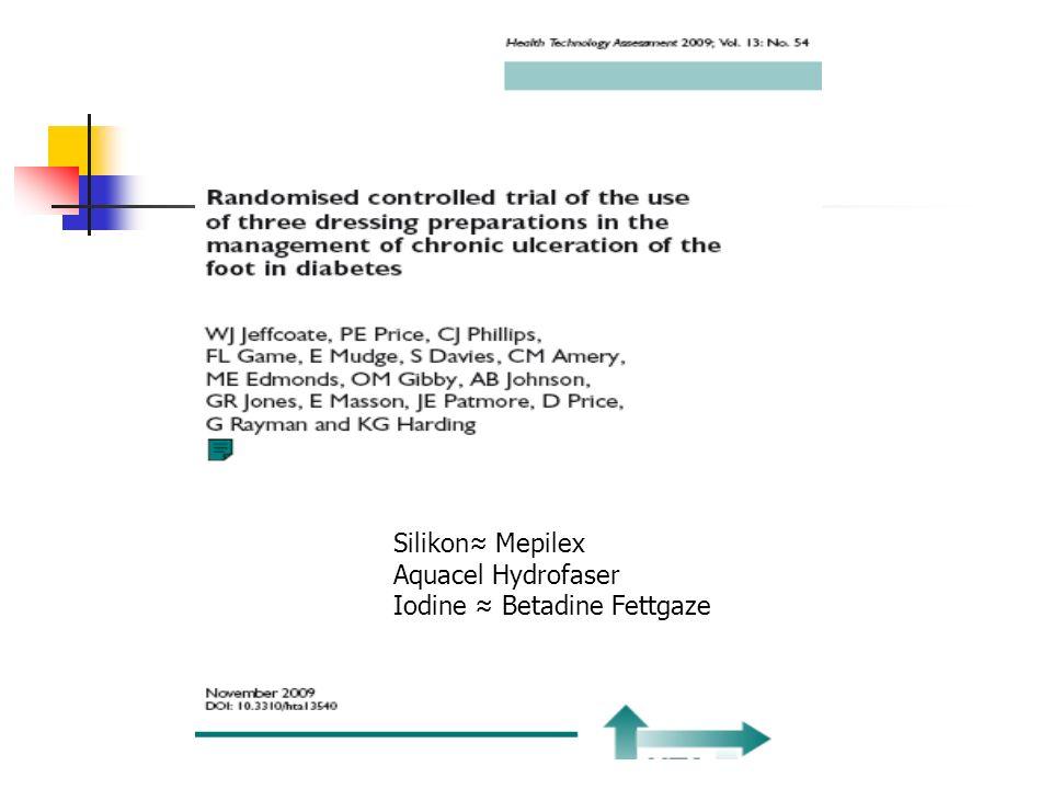 Silikon Mepilex Aquacel Hydrofaser Iodine Betadine Fettgaze