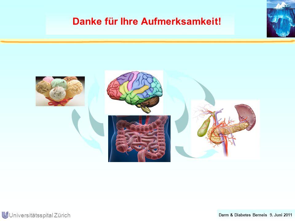 Darm & Diabetes Berneis 9. Juni 2011 Universitätsspital Zürich Danke für Ihre Aufmerksamkeit!