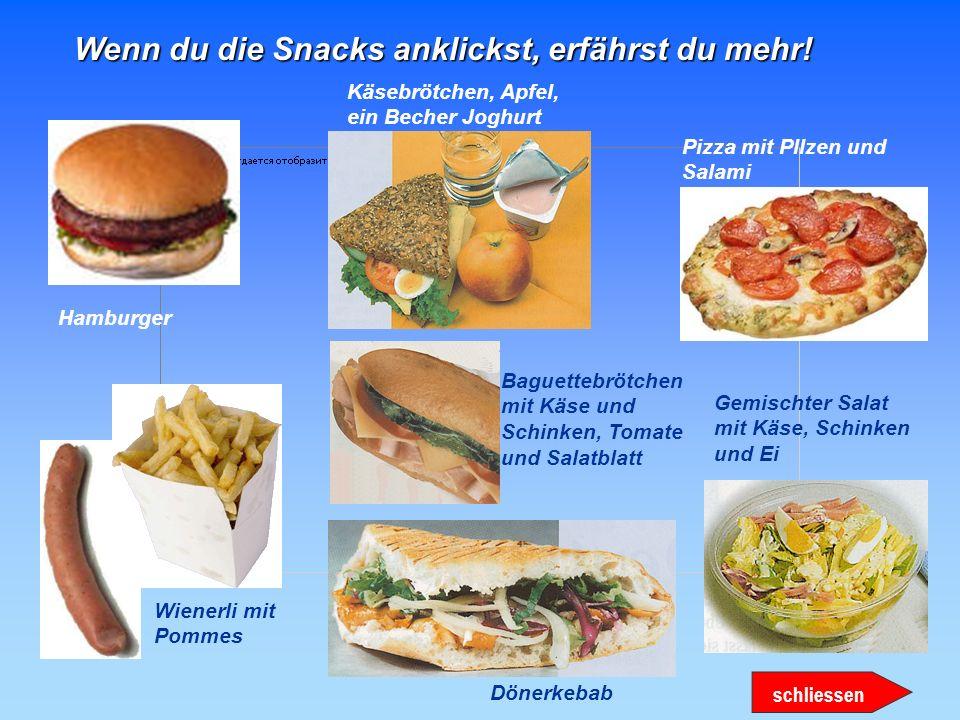 Profil: wenig Fett ein Getreideprodukt Gemüse möglichst frisch Obst, möglichst frisch ein fettarmes Milchprodukt ein energiearmes Getränk Kommentar: K