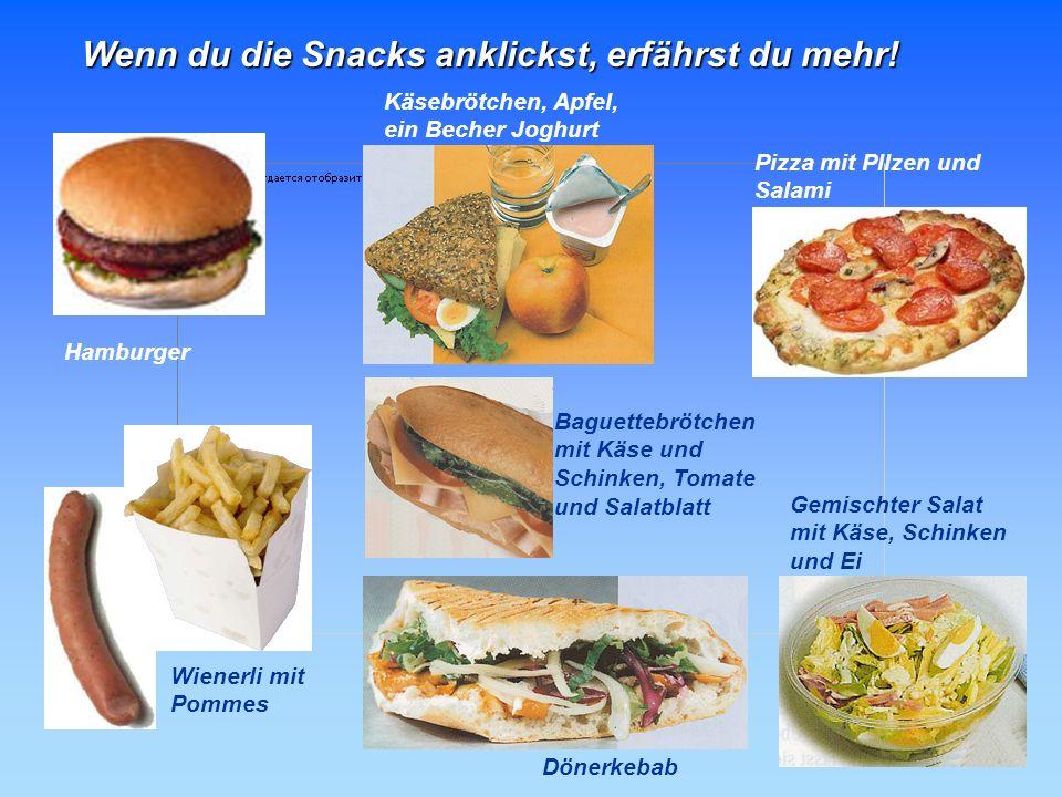 Deine Fast-Food-Checkliste Eine Fast-Food-Mahlzeit sollte Folgendes bieten: wenig Fett ein Getreideprodukt, möglichst aus Vollkorn Gemüse, möglichst f