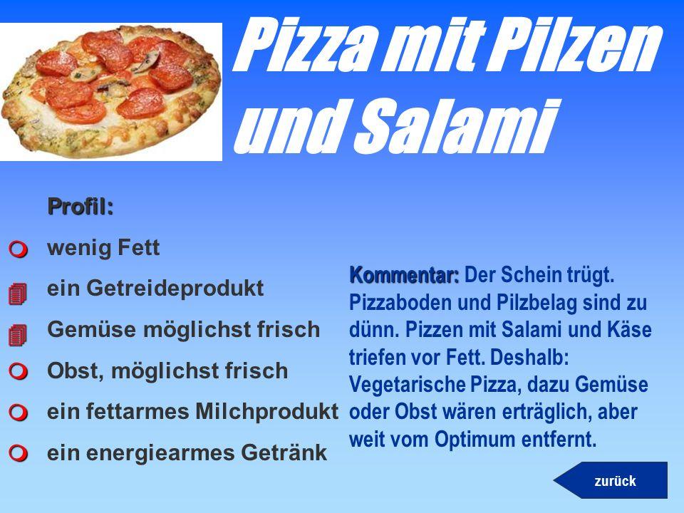 Wienerli und Pommes Profil: wenig Fett ein Getreideprodukt Kommentar: Kommentar: Trotz Kartoffeln durchgefallen! Hinzu kommt, dass sowohl Pommes als a