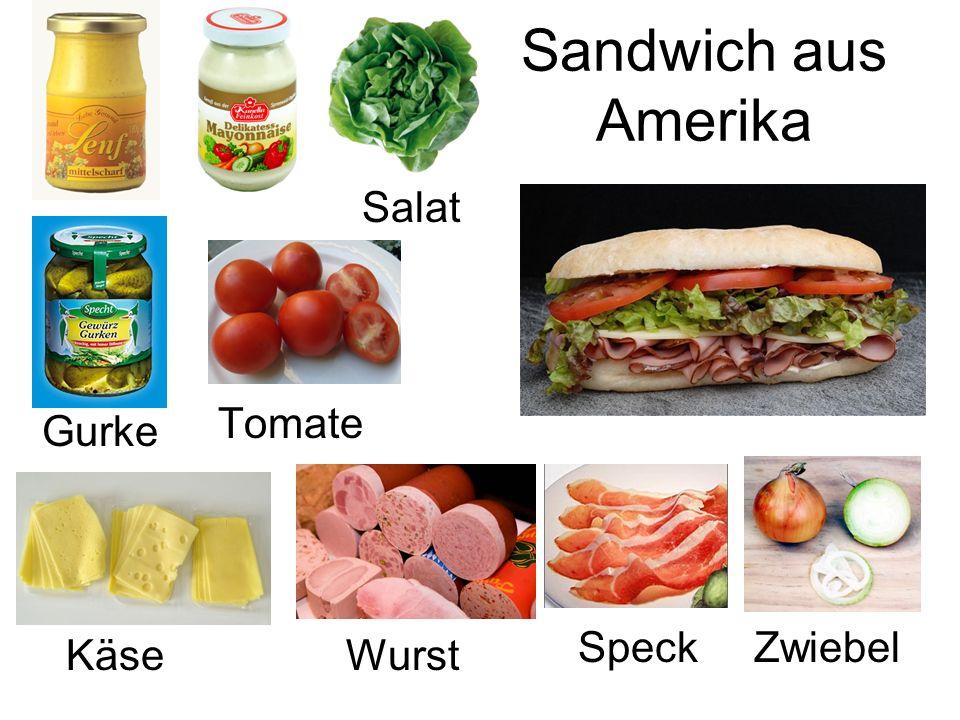 Salat WurstKäse Gurke ZwiebelSpeck Tomate