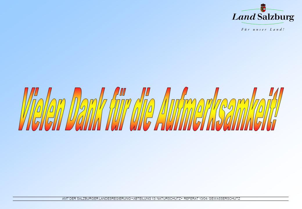 AMT DER SALZBURGER LANDESREGIERUNG ABTEILUNG 13: NATURSCHUTZ REFERAT 13/04- GEWÄSSERSCHUTZ
