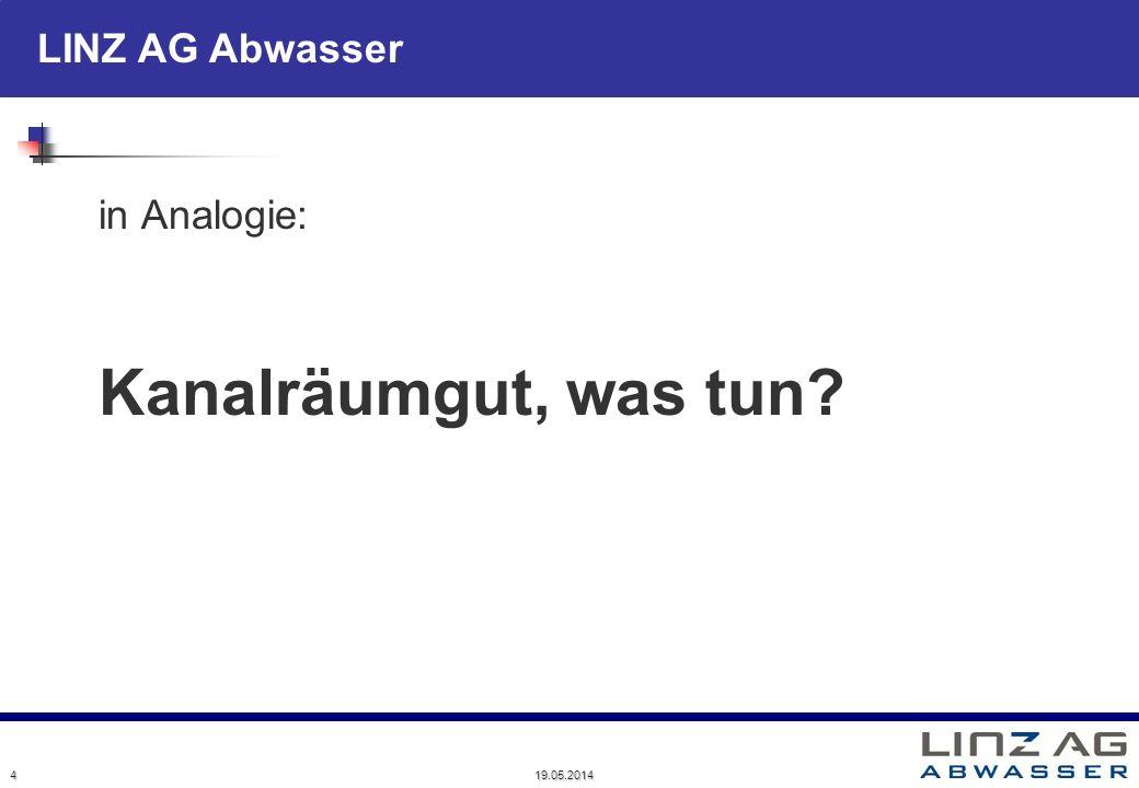 19.05.2014 4 in Analogie: Kanalräumgut, was tun?