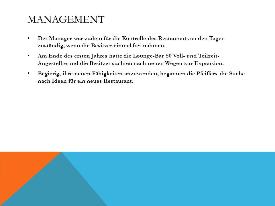 MANAGEMENT Der Manager war zudem für die Kontrolle des Restaurants an den Tagen zuständig, wenn die Besitzer einmal frei nahmen.