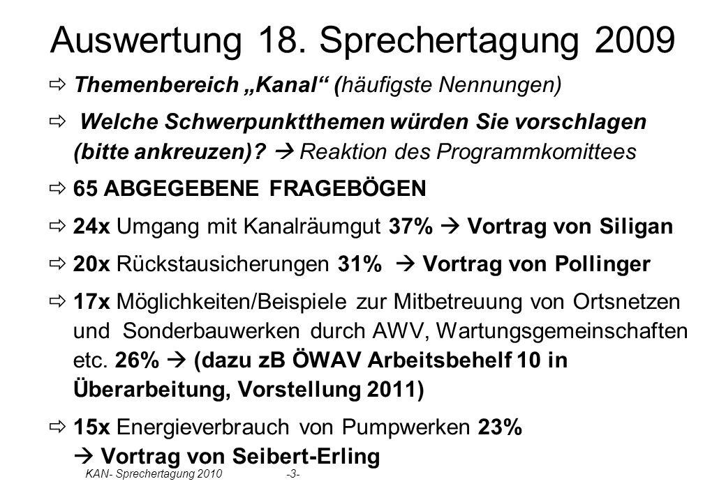 KAN- Sprechertagung 2010 -3- Auswertung 18.