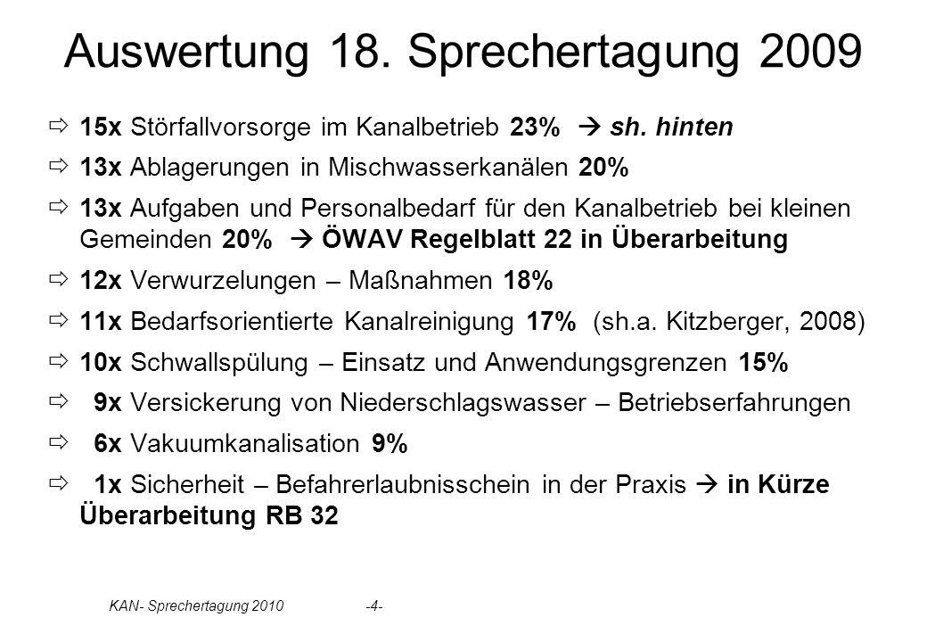 KAN- Sprechertagung 2010 -4- Auswertung 18.
