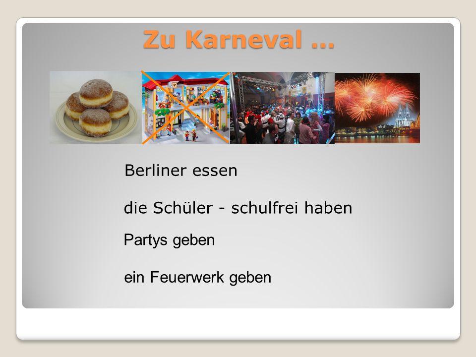 Berliner essen die Schüler - schulfrei haben Partys geben ein Feuerwerk geben Zu Karneval …