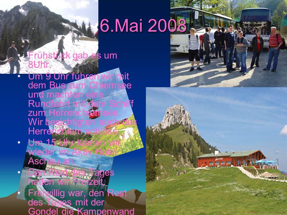 5.Mai 2008 Am 5.Mai.2008 haben wir unsere Reise begonnen. Wir fuhren um 7 Uhr an der Erich Kästner-Schule in Morsbach los. Nach 3 Stunden kamen wir in