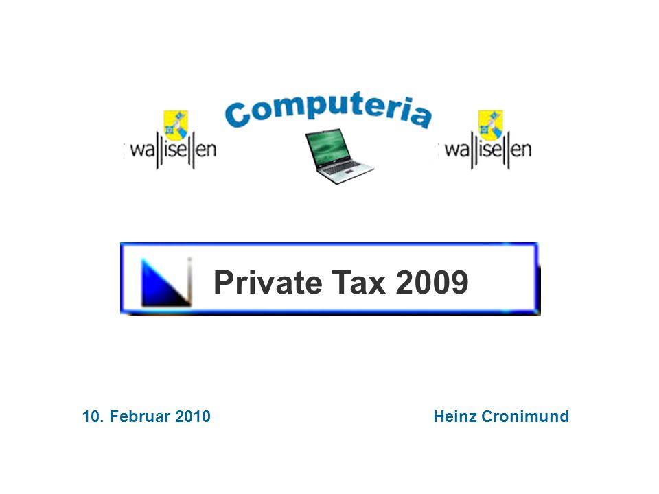 10. Februar 2010 Heinz Cronimund Private Tax 2009