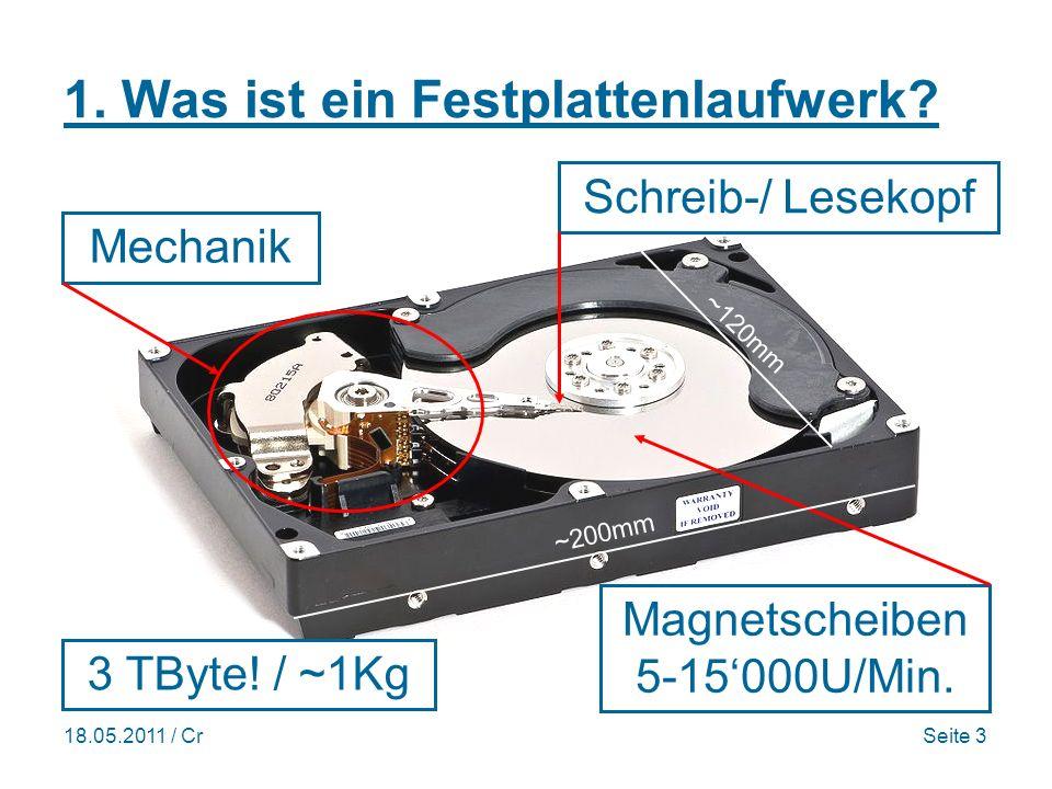 18.05.2011 / CrSeite 3 1. Was ist ein Festplattenlaufwerk.