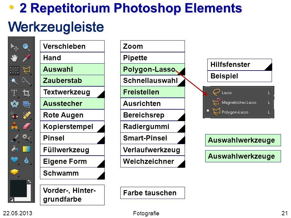 21 2 Repetitorium Photoshop Elements 2 Repetitorium Photoshop Elements Verschieben Hand Auswahl Zauberstab Textwerkzeug Ausstecher Rote Augen Kopierst