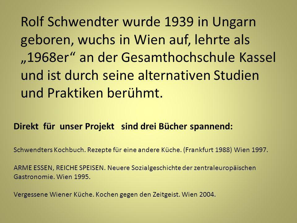 Rolf Schwendter wurde 1939 in Ungarn geboren, wuchs in Wien auf, lehrte als 1968er an der Gesamthochschule Kassel und ist durch seine alternativen Studien und Praktiken berühmt.