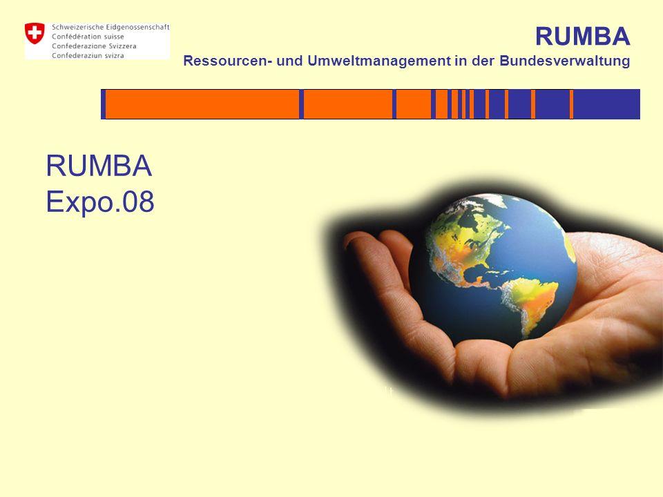 RUMBA Ressourcen- und Umweltmanagement in der Bundesverwaltung RUMBA Expo.08