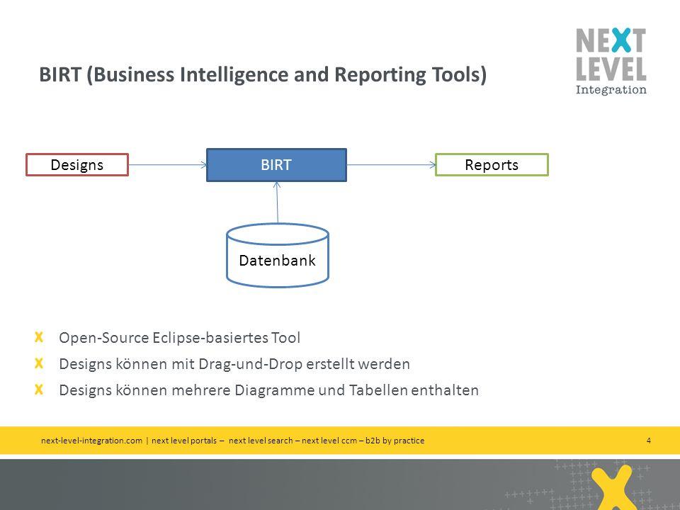 4 BIRT (Business Intelligence and Reporting Tools) next-level-integration.com | next level portals – next level search – next level ccm – b2b by pract