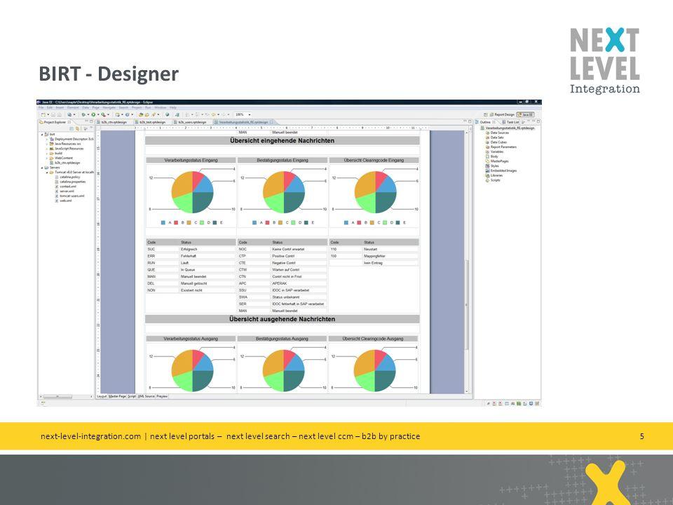 5 BIRT - Designer next-level-integration.com | next level portals – next level search – next level ccm – b2b by practice
