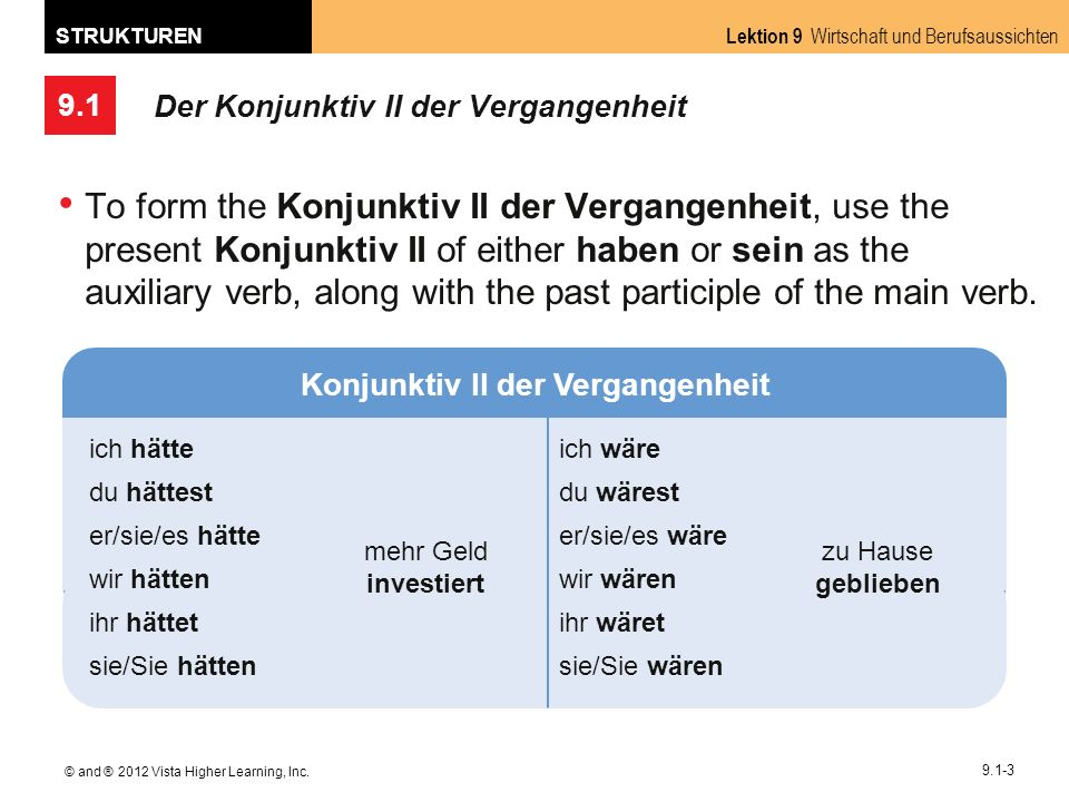 9.1 Lektion 9 Wirtschaft und Berufsaussichten STRUKTUREN © and ® 2012 Vista Higher Learning, Inc.