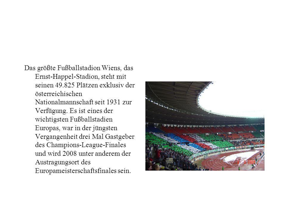 Auch zwei der Vorläuferverein des in der Südstadt Spielenden VfB Admira Wacker Mödling (Wacker Wien und Admira Wien) waren Wiener Vereine. Die Dominan