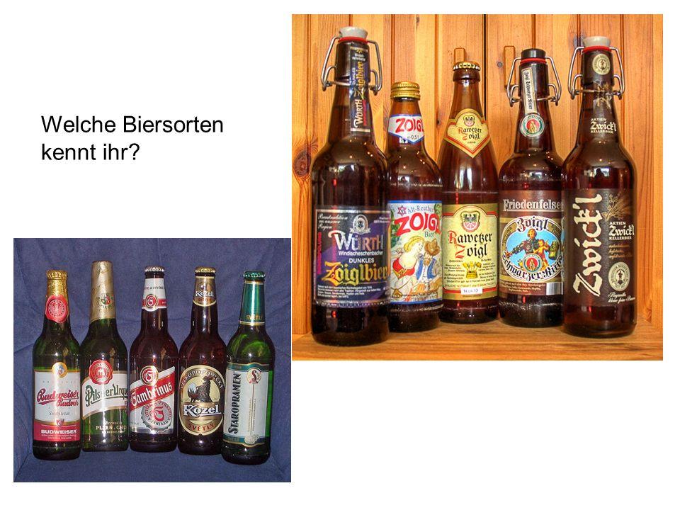 e Brauerei, en s Bier, e/ Biersorten brauen e Zutate, n s Wasser, 0 r Hopfen, - r Malz, - e Hefe, n