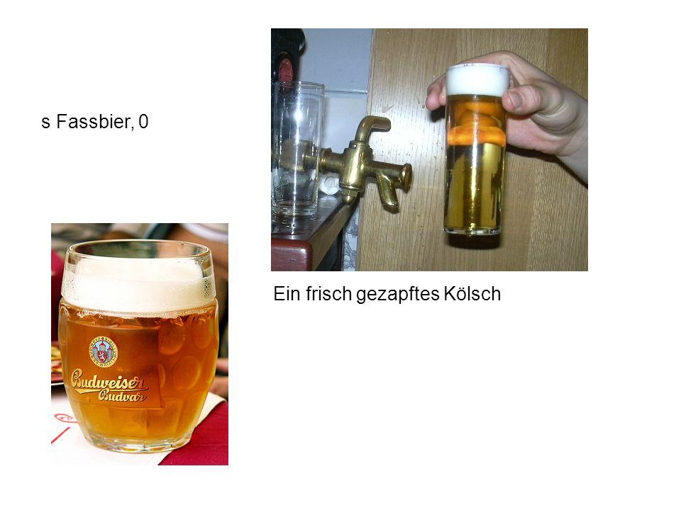 Ein frisch gezapftes Kölsch s Fassbier, 0