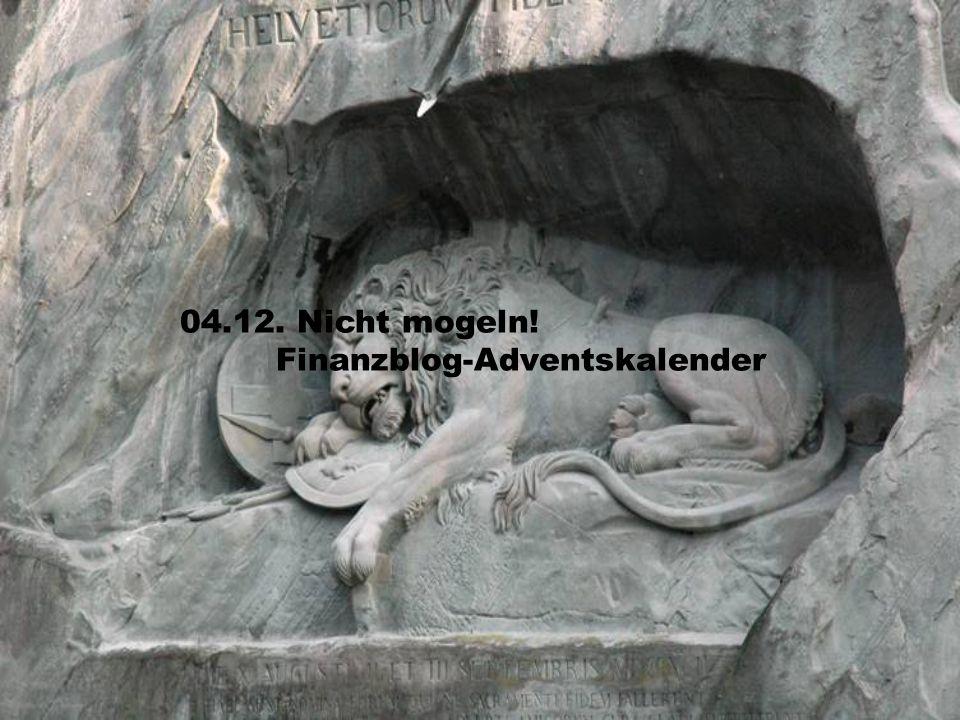 04.12. Nicht mogeln! Finanzblog-Adventskalender