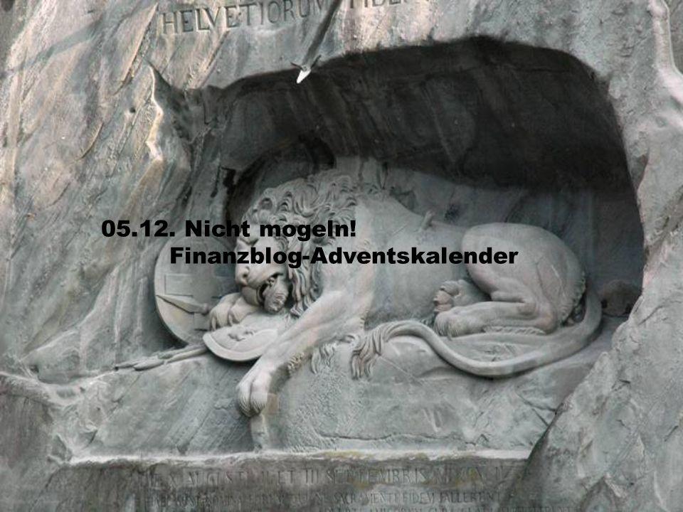 06.12. Nicht mogeln! Finanzblog-Adventskalender
