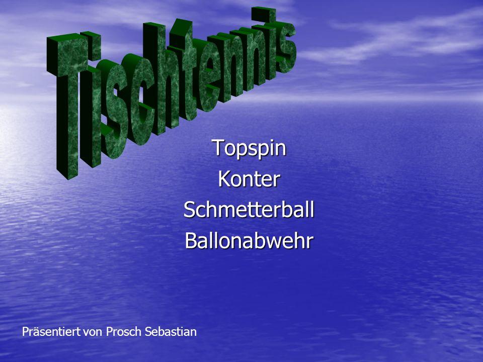 TopspinKonterSchmetterballBallonabwehr Präsentiert von Prosch Sebastian