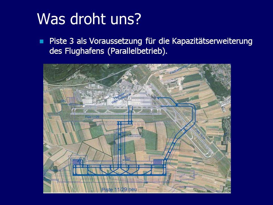 Was droht uns? Piste 3 als Voraussetzung für die Kapazitätserweiterung des Flughafens (Parallelbetrieb).